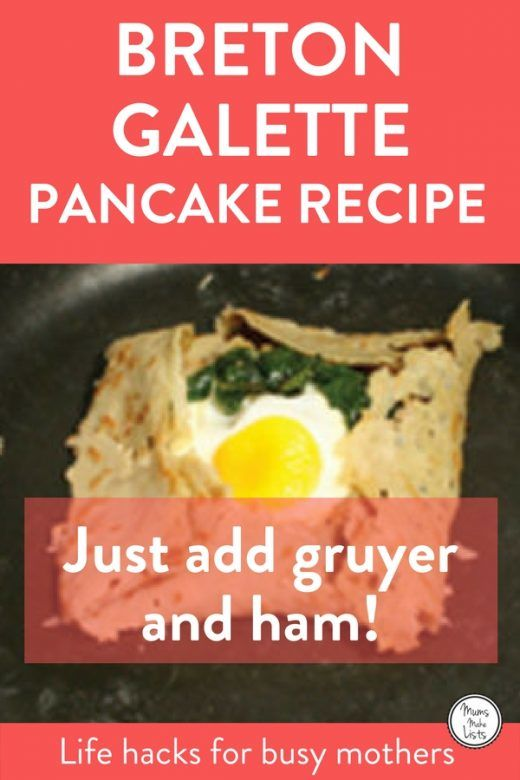 Looking for an easy pancake recipe? Here's 3 easy recipes for homemade pancakes, one for English pancakes (pretty much the same as the French crêpe), American pancakes and the French Breton galette, which is a gluten-free savoury pancake. #pancakes #pancakeday #MardiGras #ShroveTuesday #Breakfast #breakfastrecipes #Brunchideas #Brunch