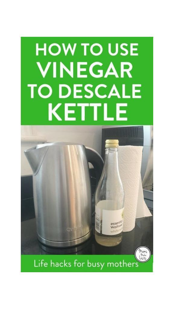 How To Descale A Kettle Using Vinegar Life Hacks For