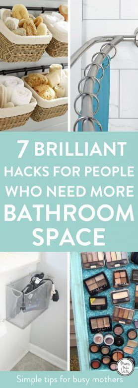 Small bathroom storage ideas and hacks, DIY and clever storage ideas to help you declutter and organise your bathroom. These small bathroom organisation hacks are THE BEST! I'm so glad I found these GREAT tips! Now I have some great ways to organise my bathroom and make it feel bigger!