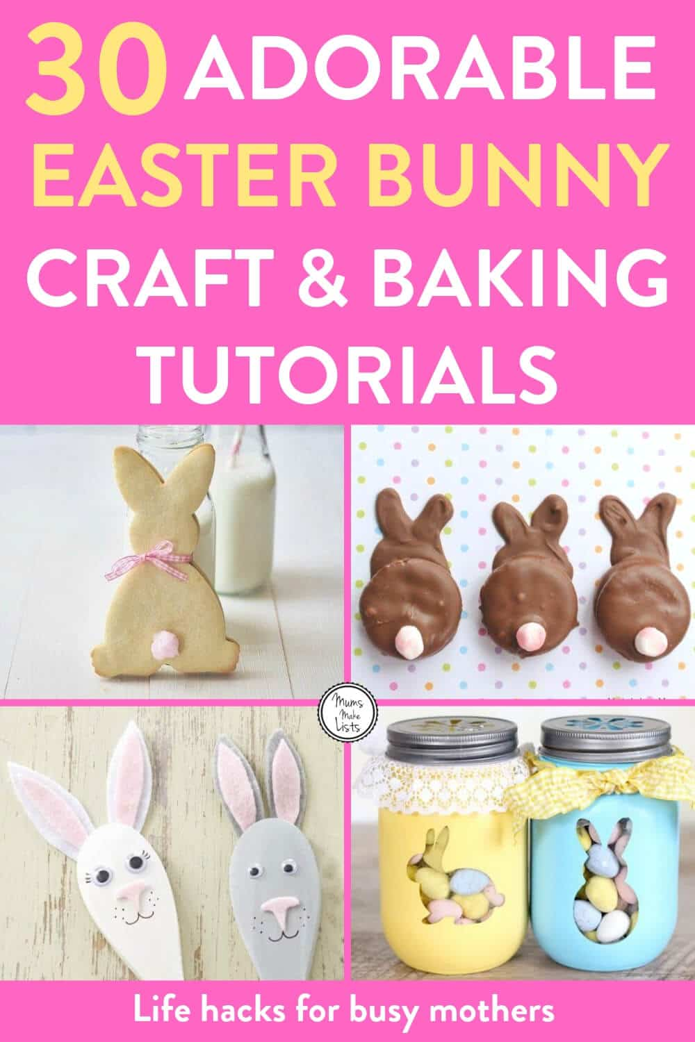 Easter Bunny Baking Crafts And Treats Mums Make Lists