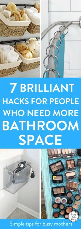 Small bathroom storage ideas and hacks, DIY and clever storage ideas to help you declutter and organise your bathroom. These small bathroom organisation hacks are THE BEST! I'm so glad I found these GREAT tips! Now I have some great ways to organise my bathroom and make it feel bigger! #Organisation #Organization #OrganizationTips #OrganizationIdeas #Bathroomorganization #bathroomideas