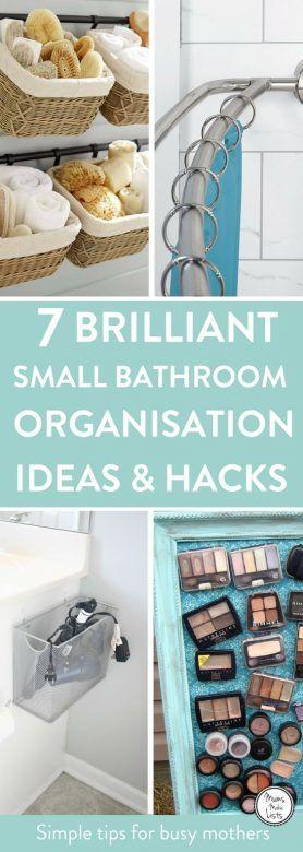 7 Small Bathroom Organisation Ideas Mums Make Lists