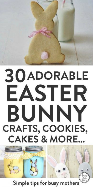 Easter bunny baking crafts and treats mums make lists a roundup of gorgeous easter bunny baking cookies craft and treat recipes how negle Images