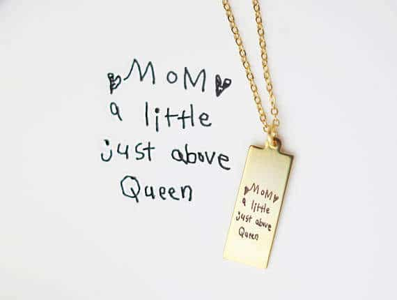 Etsy handwritten necklace