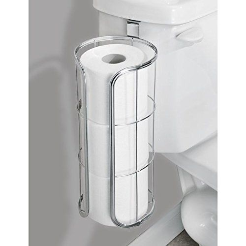 mdesign over the tank toilet roll storage container for small bathroom storage ideas