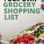 Grocery list, Food shopping list, Save money on groceries by using a list to plan, Meal planning shopping list, Healthy grocery list, Family grocery shopping list, Grocery list for families on a budget