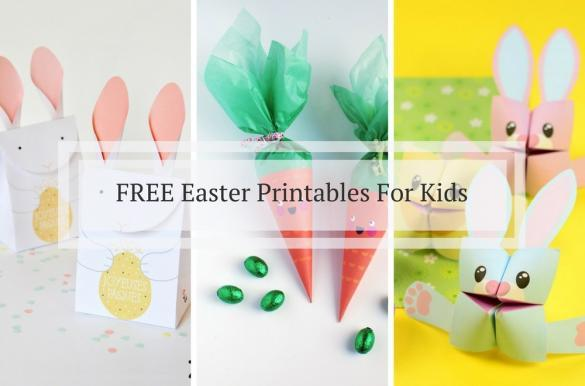 Free Easter printables for kids to craft at home, free templates to download