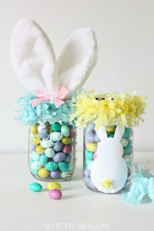 Mason Jar Easter Basket #MasonJar #Easter #EasterBasket