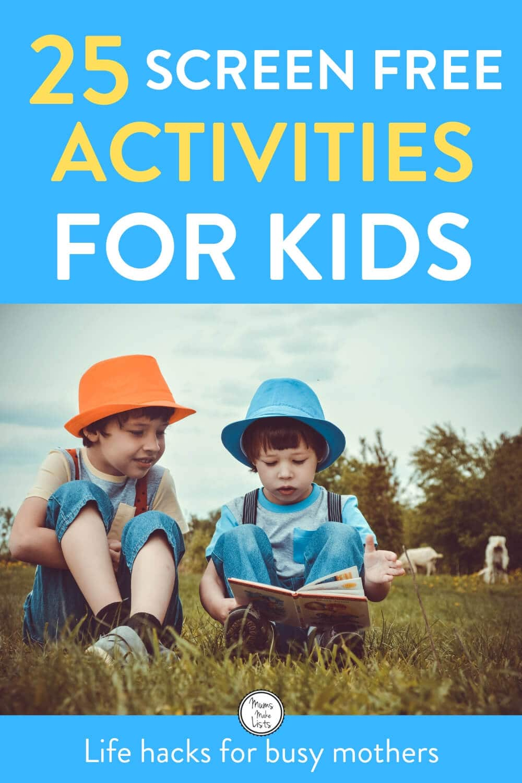 Screen free activities for kids, kids activities, easy activities for kids