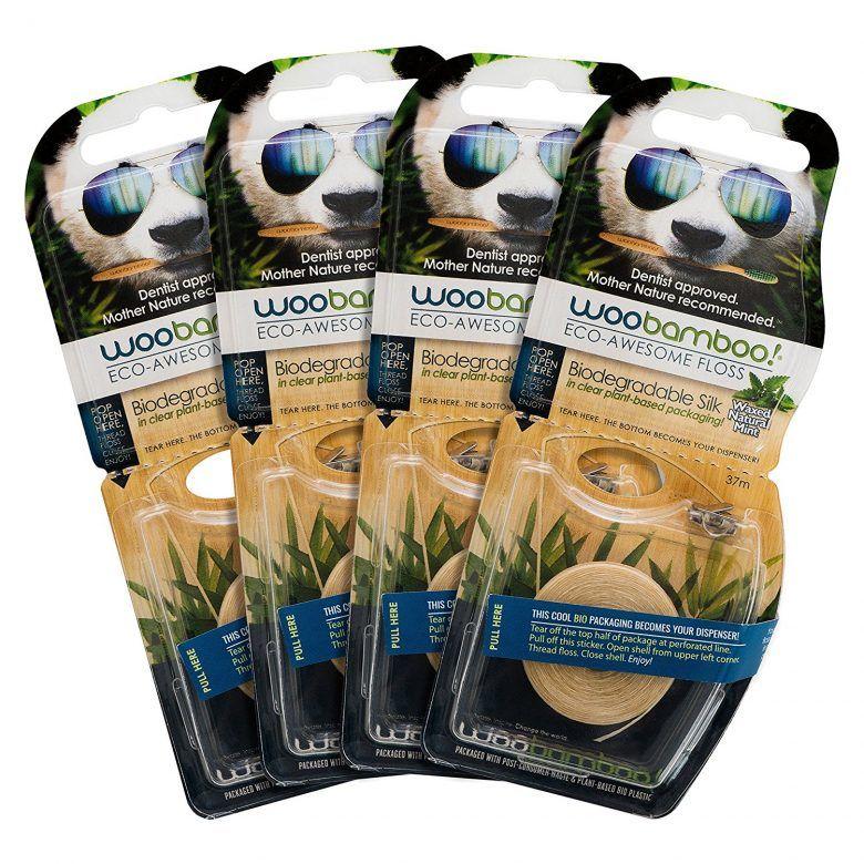 Woobamboo silk eco-floss, zero waste dental floss for a plastic free bathroom #zerowaste #plasticfree