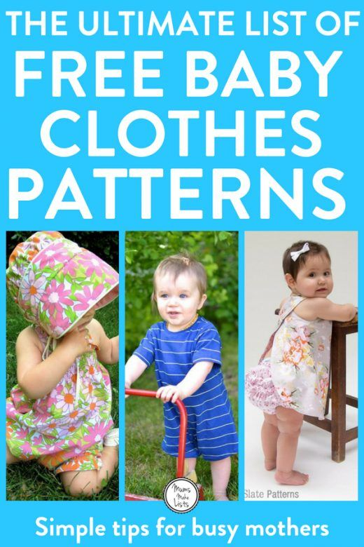 A roundup of gorgeous, easy to make baby clothes patterns, for sewing, crocheting, knitting and crafting. #baby #babypattern #BabyClothes #SewingPattern #Craft #ChristmasGifts #ChristmasGiftId