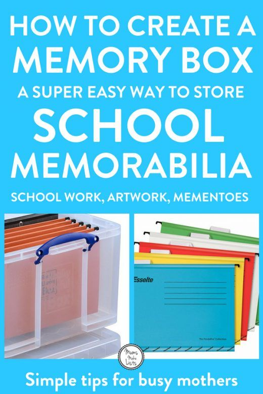 Memory storage for kids: How to organise artwork and schoolwork