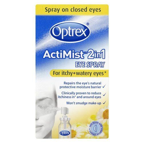 Optrex 2-in-1 Actimist Eye Spray for Itchy and Watery Eyes great for Hay Fever