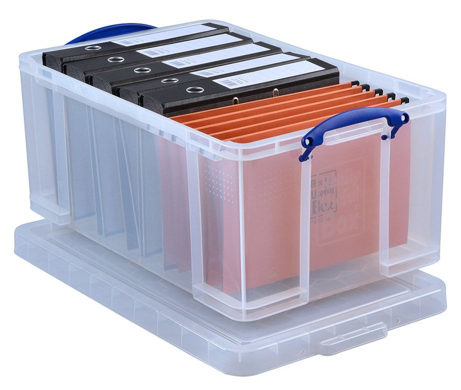 Really Useful Storage Box 64 Litre suspension file for school memory box. #BacktoSchool #School #Organisation