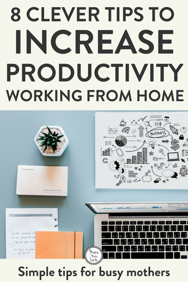 Work from home mum tips - 8 hacks to help busy mothers who work from home to increase their productivity and keep their sanity juggling parenthood with working from home. Focus on these 8 tips and witness your productivity increase until it goes through the roof! #WAHM #WorkFromHome #Lifehacksforbusymothers #lifehacks #WorkingMum #WorkingMom #WorkingMomLife #WorkingMomProblems #momlife #mumlife #mumlife #momlife #motherhood #organization #TimeManagement