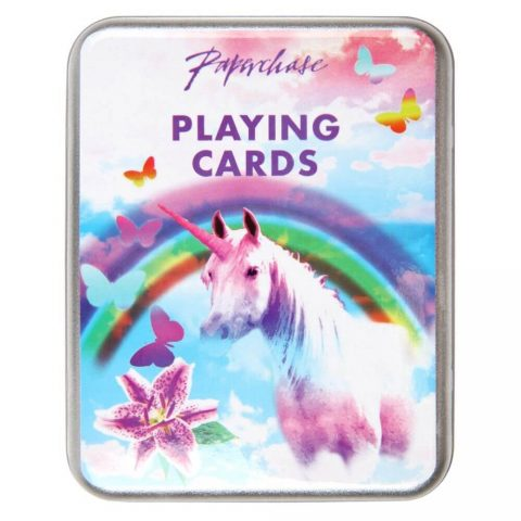 Paperchase Unicorn playing cards - adorable to give out as a party bag favour