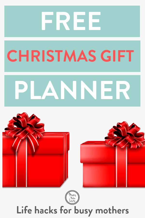 Free Christmas gift shopping planner