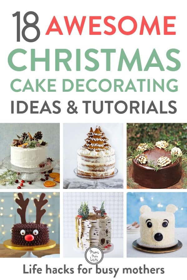 I've loved putting together this roundup of 18 awesome Christmas cake decorating ideas. There is nothing lovelier than a beautifully decorated Christmas cake as the centrepiece to your Christmas table. I've rounded up ideas from reindeer and polar bear figures to traditional and rustic ways to decorate your Christmas cake this year #Christmas #Christmascake #Christmascakerecipe #Cake #Cakedecorating