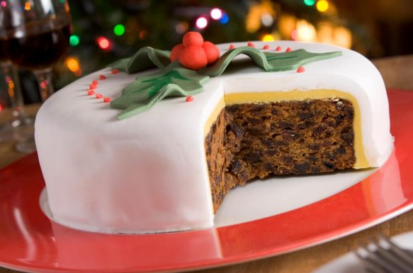 This tradtional fruit Christmas cake recipe has been used in our family for over 40 years. It's based on a Dundee cake, which is a popular rich, moist and light dried fruit cake in Scotland. I really hope that you try this recipe, love it and that it becomes part of your family's Christmas traditions too. The recipe includes a recipe almond paste and royal icing #Christmas #Xmas #ChristmasCake #ChristmasCakeRecipe