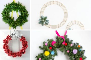 Easy Beautiful DIY Christmas Wreath Tutorials