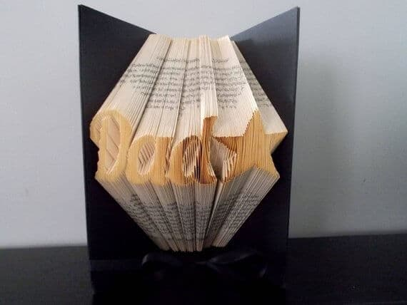 Etsy gifts for him book art #Etsy #EtsyFinds #Christmas #ChristmasGift #GiftsForHim