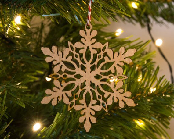 Etsy wooden star Christmas tree decoration (1)