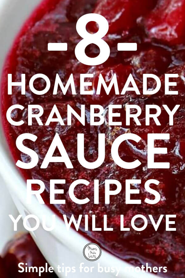 8 easy homemade cranberry sauce recipes you can make yourself at home for Thanksgiving or Christmas traditional meals