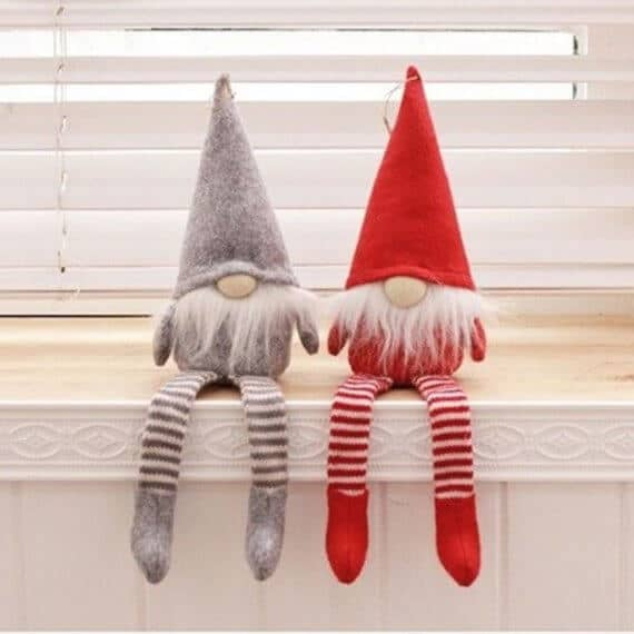 Scandinavian style Christmas decorations gnomes