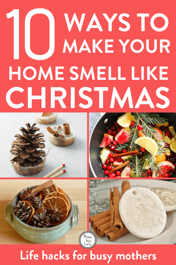 I've put together a roundup of some delicious ways to make your home smell like Christmas this festive season These ideas are the absolute best! Well worth pinning ;) #Christmas #ChristmasDecor