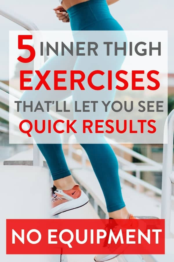 These exercises for thighs are really helpful! They're really good ideas for exercises for thighs. All five can be done as part of a home workout or incoporate them into your gym routine     #innerthighs #innerthighworkouts #exercise #exercises #exercisefitness #exerciseworkout #exerciseathome #exercisetips