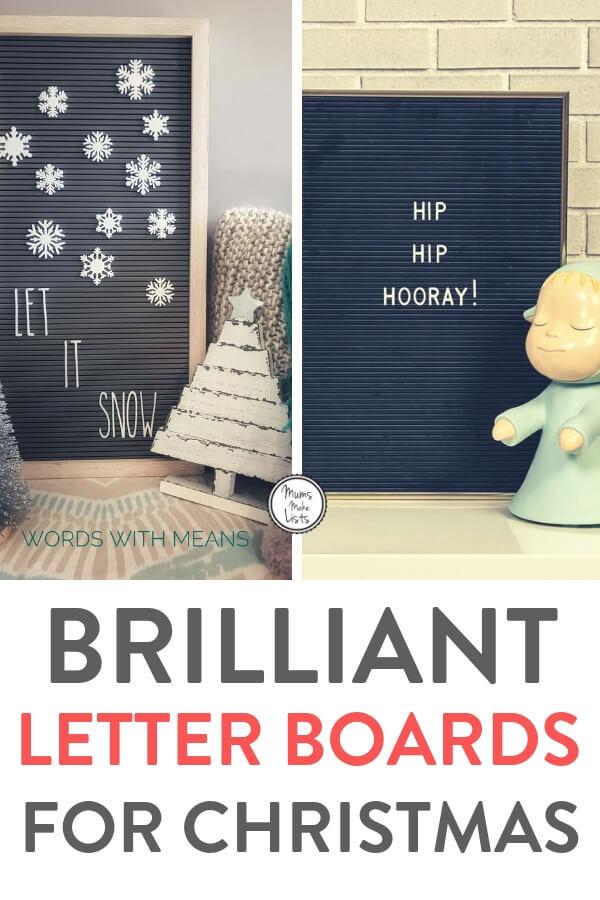 Brilliant letter board ideas for Christmas, felt letter boards, vintage peg letter boards #Christmas #LetterBoard #ChristmasDecor