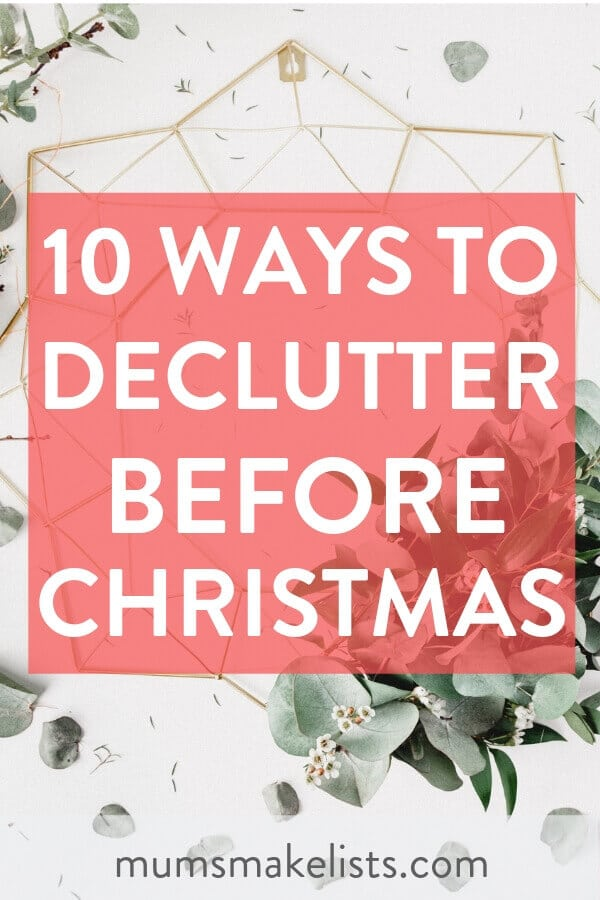 Declutter Your Home Before the Holidays. Christmas is coming and stress is already creeping slowly in. Follow these 10 simple ways to declutter your home for a less stressful holiday season. #Christmas #declutter #Organize #DeclutteringTips #Decluttering #DeclutterMyHouse #Organize #Organization #OrganizationIdeas #Christmas #ChristmasPlanning #overwhelmed #holiday #simplify