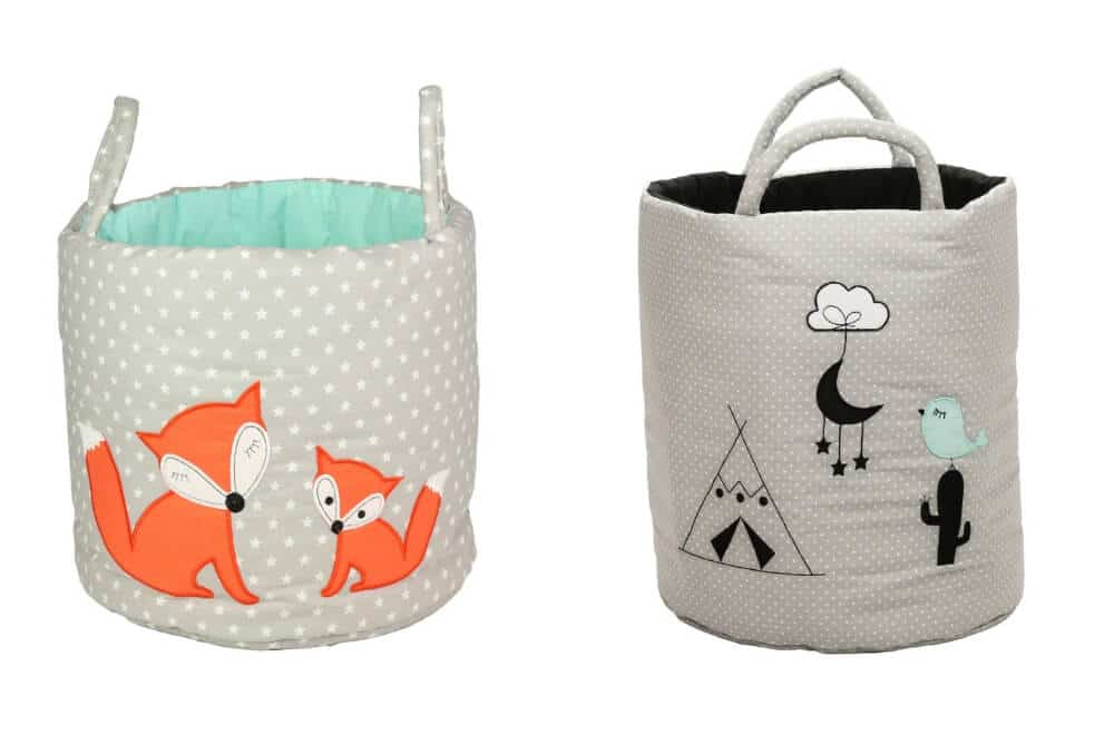 Be Wild toy storage baskets , Etsy