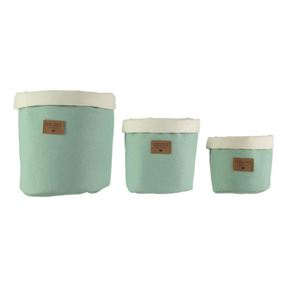 Nobodinoz Green storage baskets Smallable