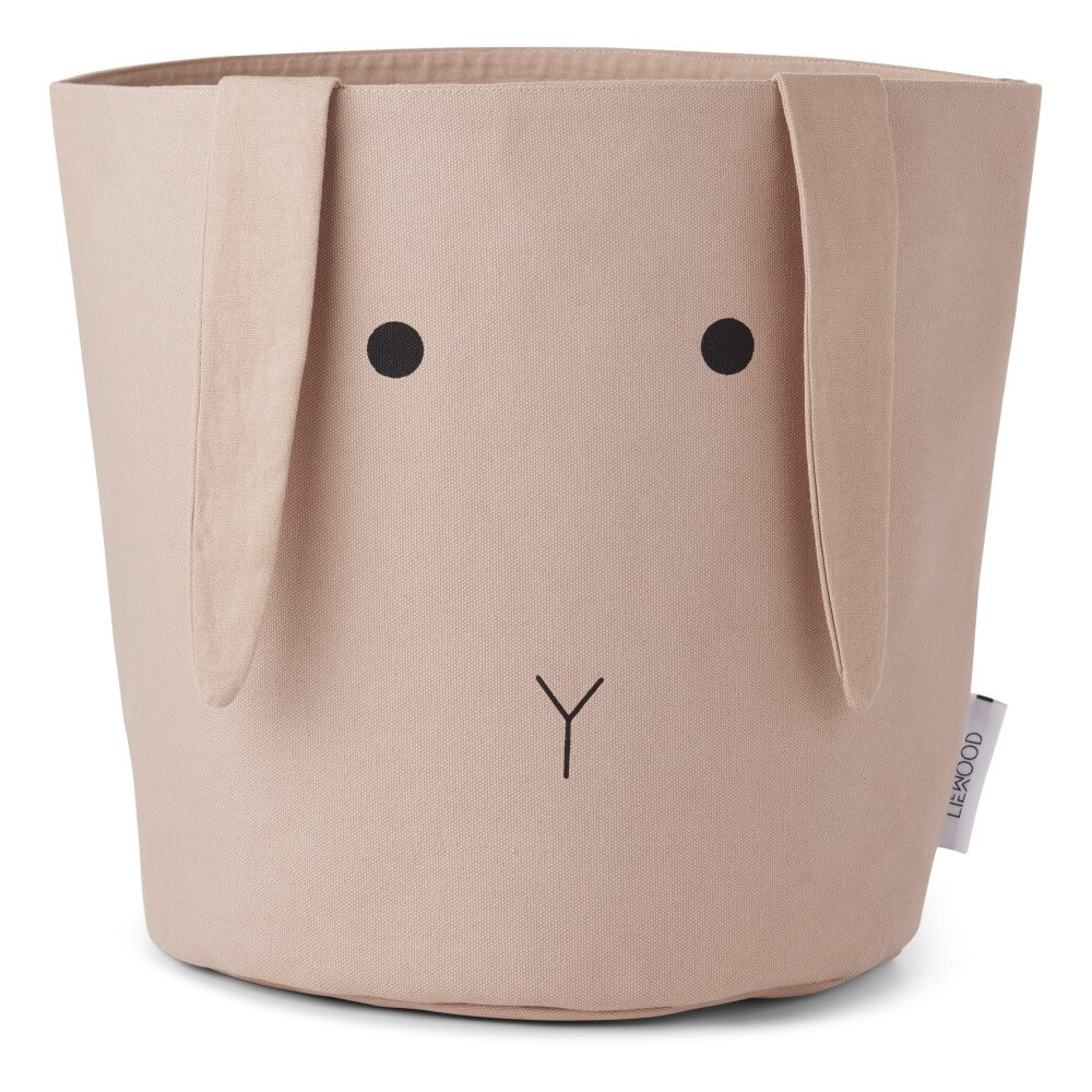 Smallable Pink bunny ella-organic-cotton-storage-basket