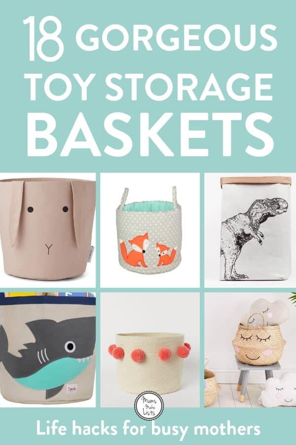 Toy storage baskets, kids room decor, toy storage