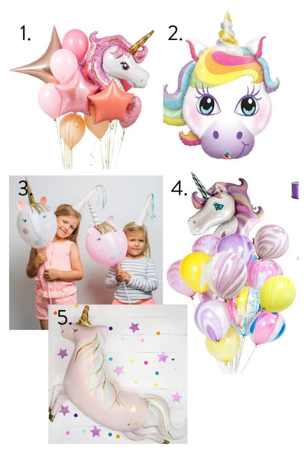 Unicorn balloons, unicorn party, unicorn themed birthday party