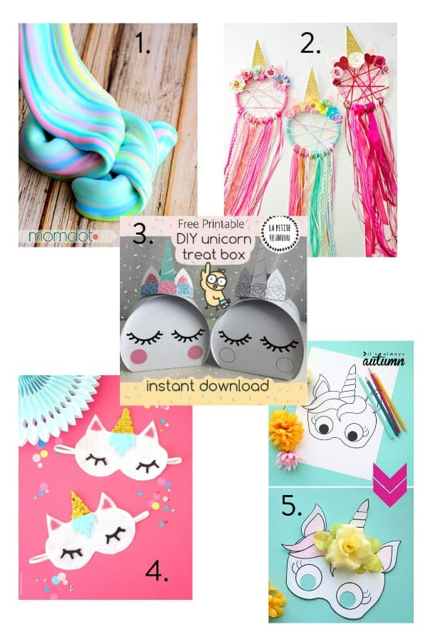 Unicorn craft, unicorn craft ideas, unicorn theme party, kids party