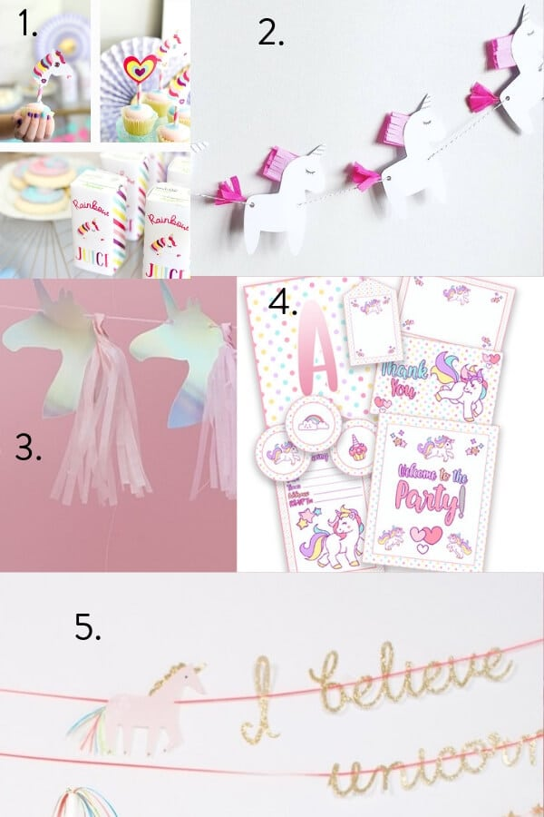 Unicorn party theme decorations , Unicorn party theme, party decorations