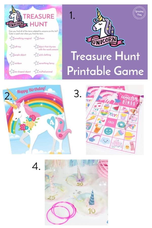 Unicorn theme party, unicorn party games, kids party