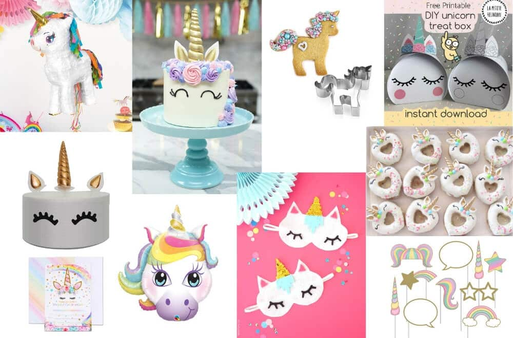 The best ideas for unicorn themed kids party, unicorn birthday party ideas, everything you need to buy to host the BEST unicorn party