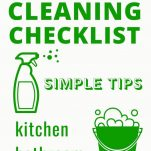 SPRING CLEANING CHECKLIST WITH TIPS TRICKS, HACKS FOR MAKING SPRING CLEANING EASY. CLEANING SCHEDULE
