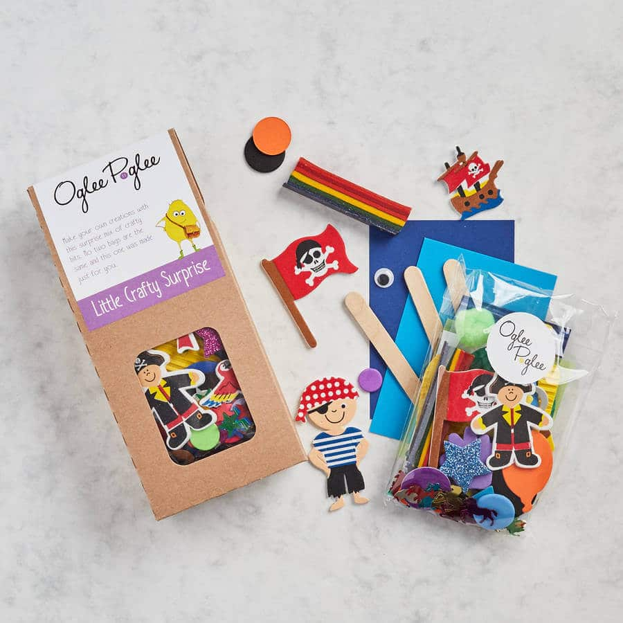 Oglee Poglee kids craft party bag, pre-filled craft party bag