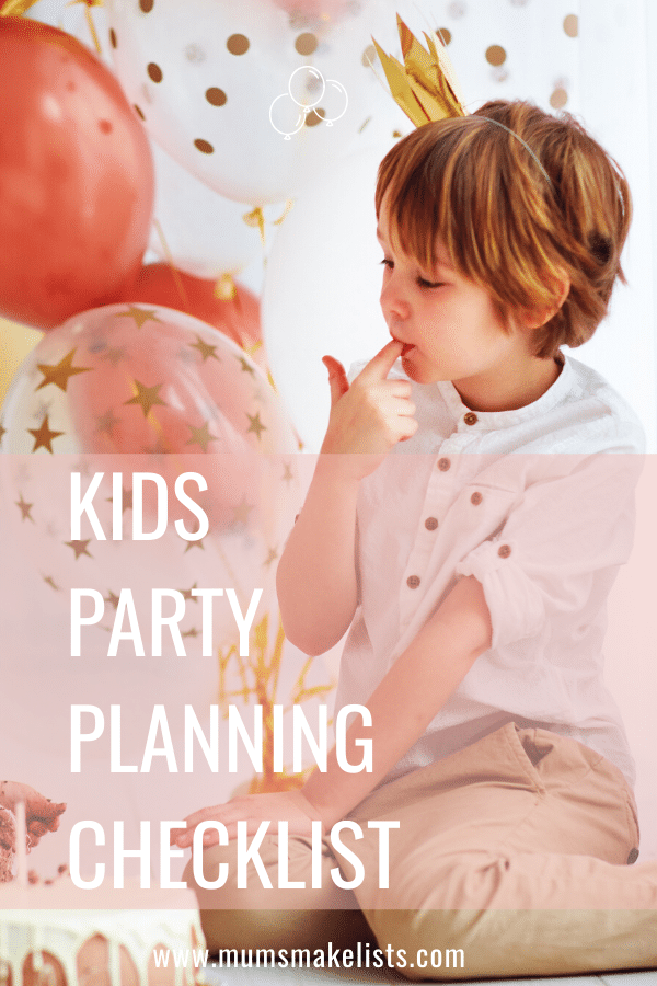 Use this kids party planning checklist from stress-free kids party planning for busy parents, kids party planning tips, kids party planning checklist