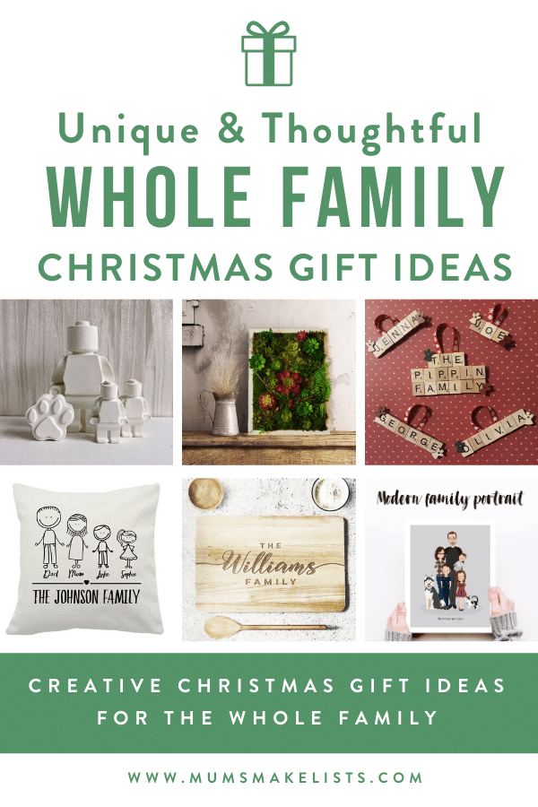 Unique family gift ideas, whole family gift ideas, personalised family gift ideas, unusual family gift ideas