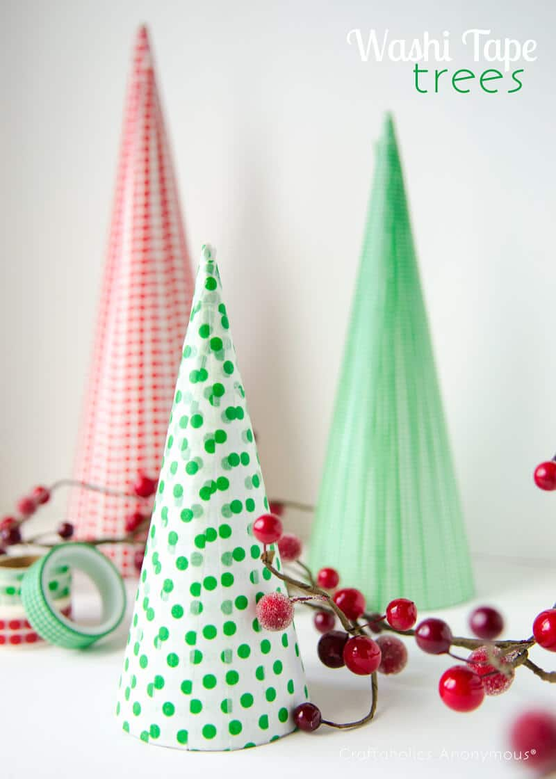 Easy to make Christmas decoration, Washi tape Christmas decorations, Christmas craft decorations