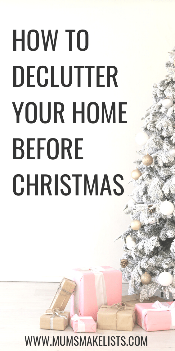 How to declutter your home before Christmas