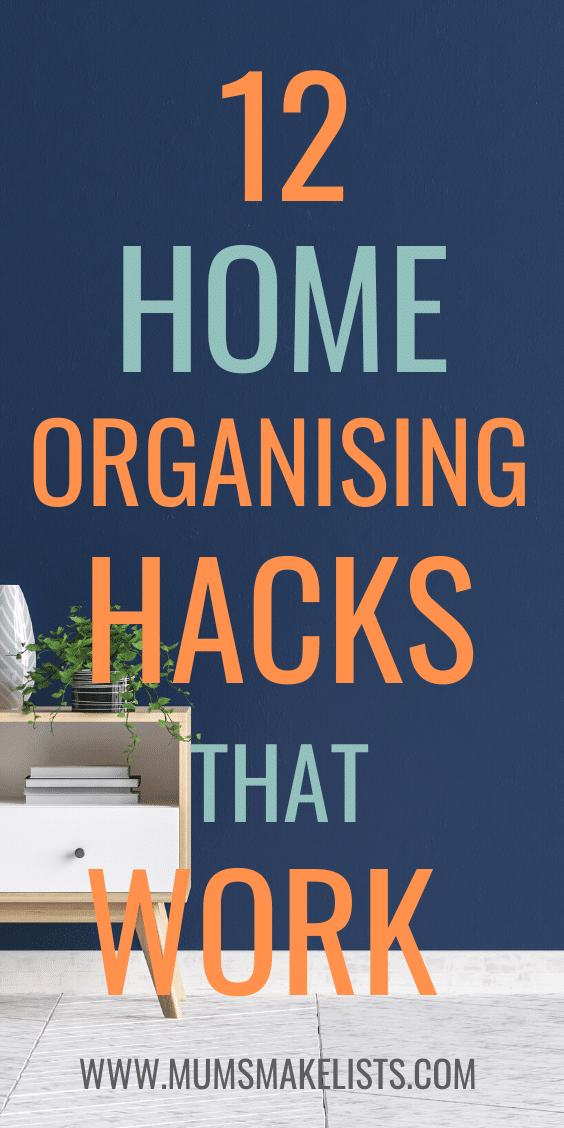 Easy organisation hacks, home organisation, ways to organise the home, clever tips and tricks for home organisation