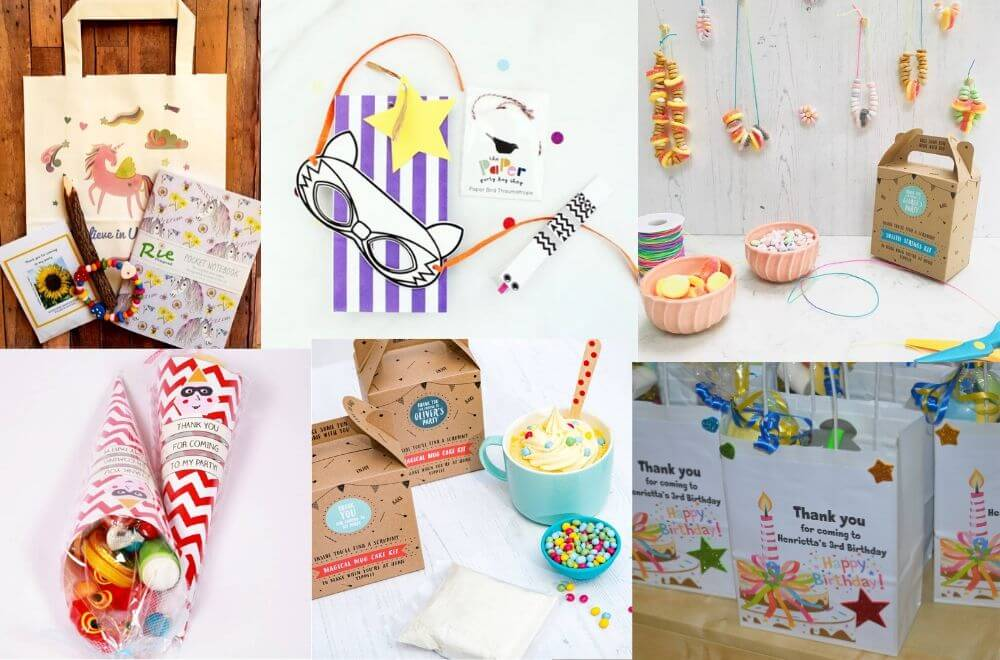pre-filled kids' party bags, pre-filled party bags, filled party bags, ready-filled kids' party bags
