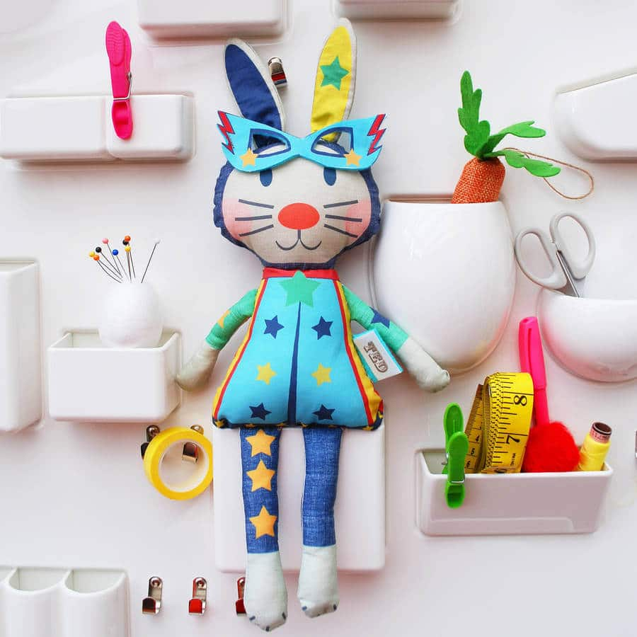 Wild Things Funky Little Dresses, Notonthehighstreet Easter gift ideas, Easter bunny doll kit, kid's starter sewing kit, non-chocolate Easter gift ideas, non-chocolate gifts